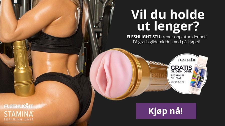 Fleshlight STU - tren opp utholdenheten! Kjøp nå og få med gratis glidemiddel, verdi kr 79!