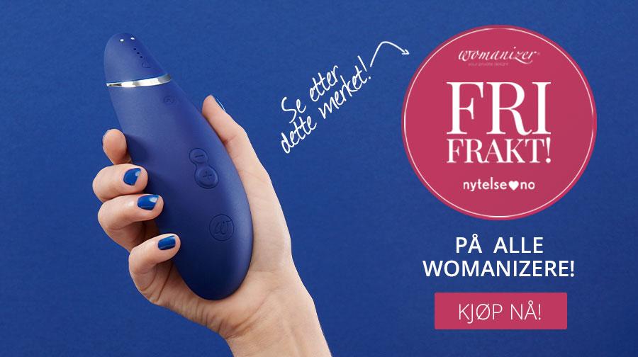 Vi gir deg fri frakt på hele ordren når du kjøper Womanizer hos Nytelse.no!