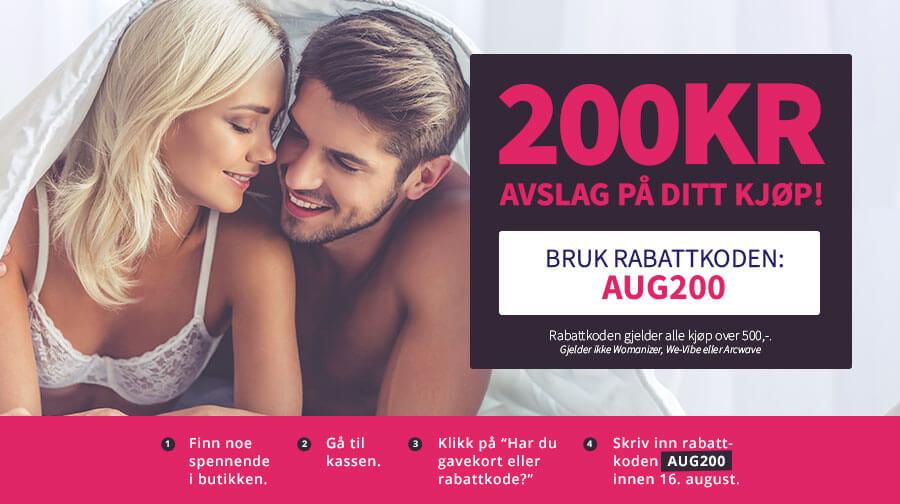 Rabattkode Nytelse - Du får 200 kr å shoppe for! Hele helgen
