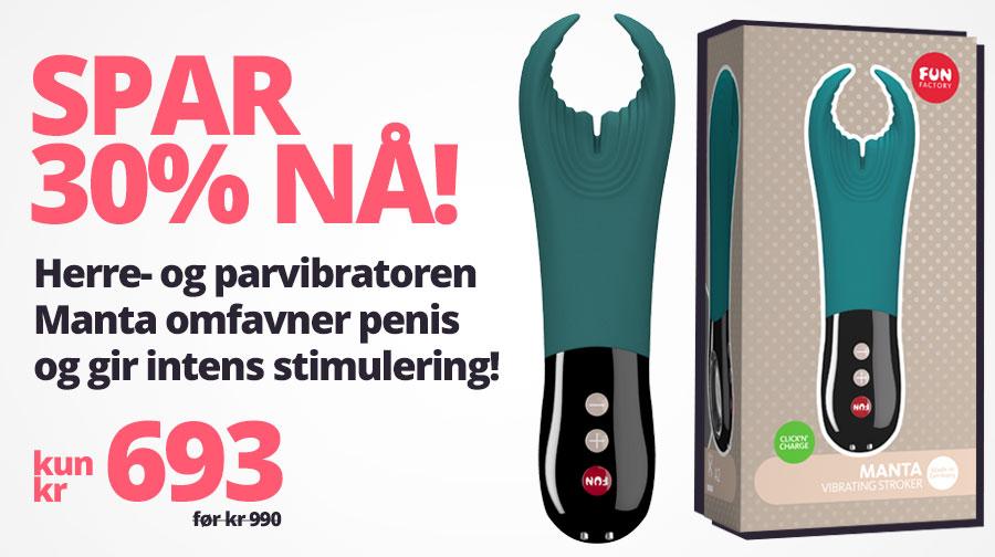Spar 30% på herrevibratoren Manta fra Fun Factory!
