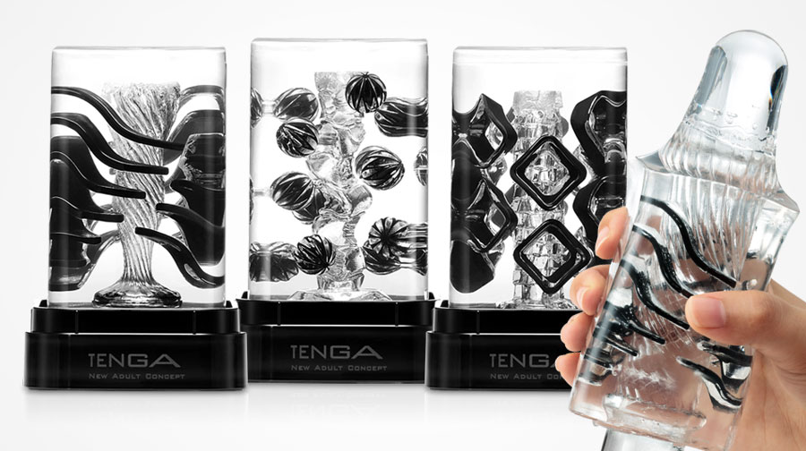 Tenga Crysta med flytende elementer for økt stimulering og intens nytelse!