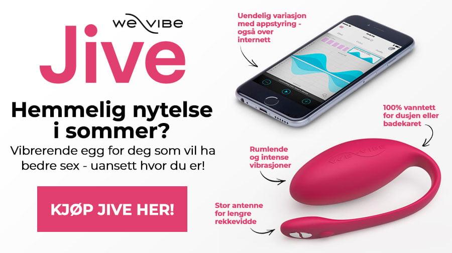 Hemmelig nytelse i sommer? Jive fra We-Vibe er egget som gir deg bedre sex, overalt!