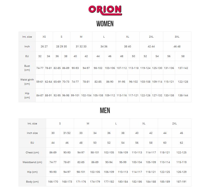 Størrelseskart - Orion