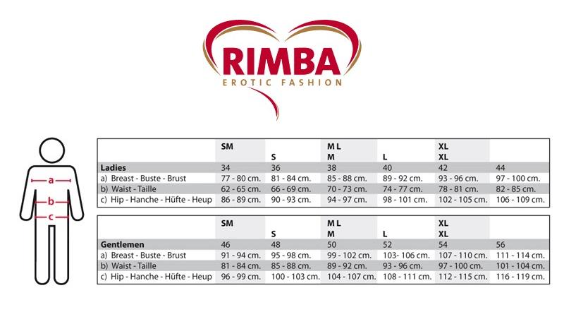 Størrelseskart - Rimba